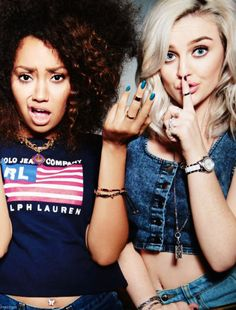Leigh Anne and Perrie ❤
