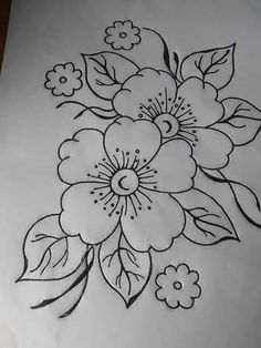 Hand Embroidery Design Patterns, Hand Embroidery Projects, Embroidery Flowers Pattern, Rangoli Designs Flower, Colorful Rangoli Designs, Drawing Tutorials For Kids, Flower Coloring Pages, Decoupage Vintage, Art Drawings Sketches Simple