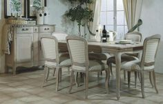"""T1VP4091O by Winners Only Canada in Winnipeg, MB - Vie en Provence 91"""" Dining Table"""