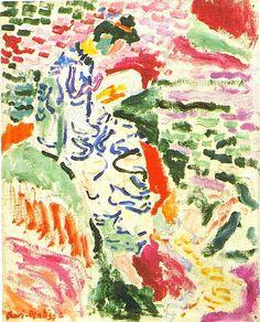 Matisse, Henri - Woman Beside the Water (La Japonaise, M.me Matisse). 1905