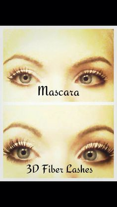 Before and After results using 3D Fiber Mascara. Have Beautiful Long Eye Lashes by using 3D Fiber Mascara. #cosmetics #makeup #mascara