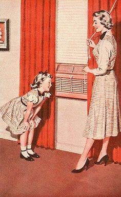 Who grew up with one of these in every room of the house?  Air Conditioner - detail from 1954 Admiral Air Conditioner ad.