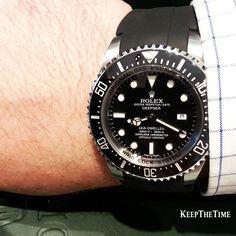 Rolex Deepsea on rubber strap