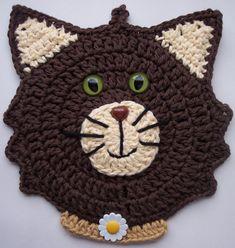 Crochet Brown Cat