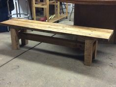 Wooden bench From hardwood skids