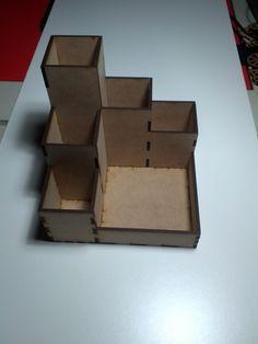Alhajero hecho con caja de zapatos reciclado cart n y - Organizador mandos a distancia ...