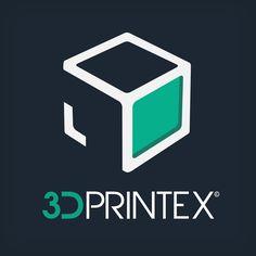 Logotipo 3DPrintEX sobre fondo oscuro. 3DPrintex era un proyecto de empresa que tenía por objetivo ofrecer servicios de impresión 3D por encargo en Extremadura.