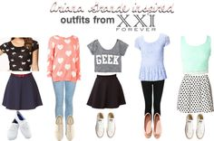 Ariana Grande  inspired first day of school outfits! LUV THEM ALL!!! Especially the 3rd one! so cute!