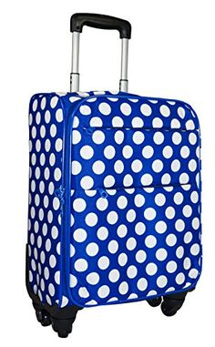 Ever Moda 360 Spinner Luggage Carry On Blue White Polka Dot >>> Details can be found by clicking on the image.