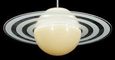 """TAKLAMPA, """"Saturnus"""", 1900-tal. Höjd ca 55 cm."""