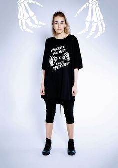 Maaike Clothing | New Zealand Socket Tee - Black with Peepers Print, Aspect Pant