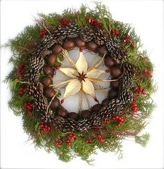 A Welcome Wreath  Tis the season to opening our doors and basking in the warmth of each other.   Here is a woodsy wreath to welcome with...