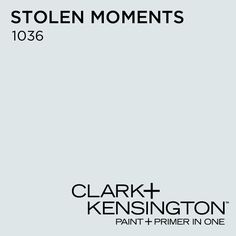 Stolen Moments 1036 by Clark+Kensington -  Bluer than the swatch appears online.  Color for the Bedroom