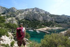Hiking in the Calanques / Marseille, South of France, with Osprey Backpack