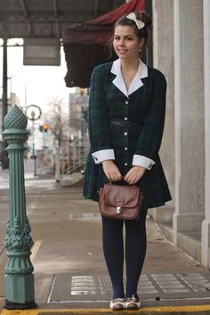 Love this outfit from Lauren Pfeiffer, her blog is called 'someonelikeyou18@blogspot.com'. The plaid dress is adorable!!!
