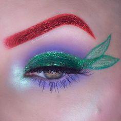 """Ariel Eye Makeup Inspired by Disney's """"The Little Mermaid """" - Halloween Makeup Mermaid Eye Makeup, Little Mermaid Makeup, Disney Eye Makeup, Ariel Makeup, Disney Inspired Makeup, Mermaid Eyes, Eye Makeup Art, Eye Art, Cute Makeup"""