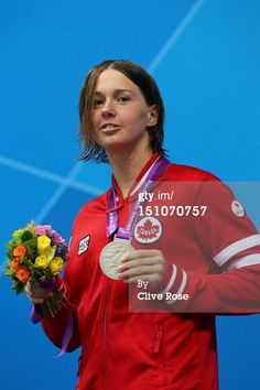 Silver medallist Brianna Nelson of Canada poses on the podium during the medal ceremony for the Women's Butterfly - Final on day 2 of the London 2012 Paralympic Games at Aquatics Centre on. Summer Dream, Olympics, Athlete, Canada, Poses, London, Celebrities, Butterfly, Colours