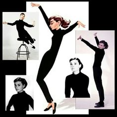 Audrey Hepburn died January 20, 1993 aged 63 RIP Photo: Promotional shots for Funny Face (1957) ~ with caricature by Chris Wahl https://en.m.wikipedia.org/wiki/Audrey_Hepburn