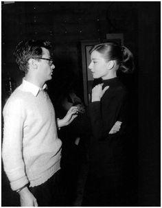 richard avedon and audrey hepburn in 1956