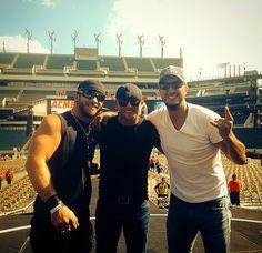 Brantley Gilbert, Cole Swindell, & Luke Bryan (in Philly August 15, 2014)