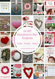 24 of the Best Valentine's Day Gift, Craft and Decor Projects. You can make gifts for your valentine or make handmade Valentine's Day Decor. Click to see all of these easy DIY Valentine's Day projects. #valentinesday #valentines #valentinesdaycrafts #valentinesgifts