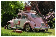 My dream car Pink Beetle, Beetle Car, My Dream Car, Dream Cars, Meister Yoda, Auto Girls, Vw Camping, Vw Vintage, Vintage Barbie