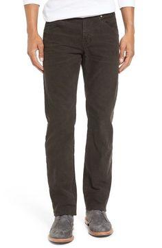AG Matchbox Slim Straight Leg Corduroy Pants, 32r. Brown and Blue.