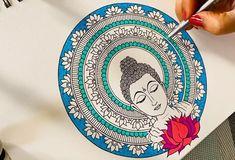 ❄️Little Artist❄️ on TikTok Art Drawings Simple, Indian Art Paintings, Zen Doodle Art, Madhubani Art, Buddha Art Painting, Mandala Design Art, Buddha Art Drawing, Canvas Art Painting, Art Drawings Sketches Simple