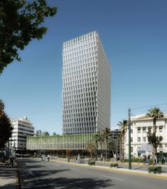 Architecture studio PILA has designed new facades for Greece's second tallest building, which has never been occupied in the 45 years since it was completed. Wooden Skyscraper, Facade Engineering, Win Competitions, Tower Block, Urban Architecture, Facade Design, Athens, Abandoned