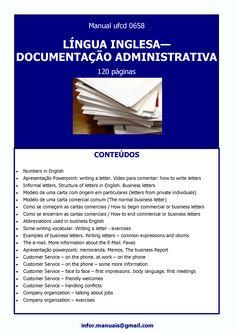 ufcd 0658 - Língua inglesa - Documentaçao administrativa