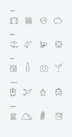 12 packs d'icons gratuits à télécharger autour du voyage et des transports