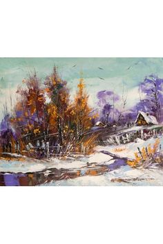 Printed Landscape Canvas Art with Stretched Frame - WooVow