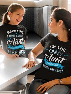 Do you love your niece? Check out this awesome Back off I have a crazy Aunt shirt you will not find anywhere else. Not sold in stores and on sale now at only $22.99! Grab yours or gift it to a friend, you will both love it.