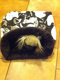 Dog or Cat Bed Snuggle sack 21 X 23 All Faux Fur by FortunesPet