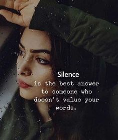 girl quotes 60 Inspirational Quotes About Life Guaranteed To Brighten Your Day Silence Quotes, Karma Quotes, Girly Quotes, Wise Quotes, Reality Quotes, Friend Quotes, Happy Quotes, Positive Attitude Quotes, Good Thoughts Quotes
