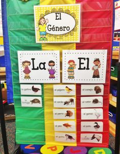 Hey, everyone! Today I wanted to pop in and share some of my recent pins that I& really excited to use in my classroom. In two weeks, w. Bilingual Kindergarten, Bilingual Classroom, Bilingual Education, Spanish Classroom, Kindergarten Writing, Kids Education, Preschool Spanish, Elementary Spanish, Spanish Activities