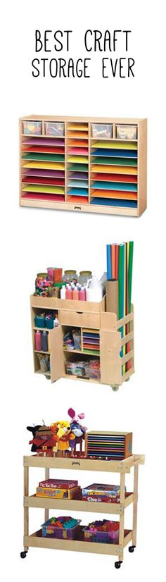 Best craft storage ever! For playrooms, classrooms, and the home.