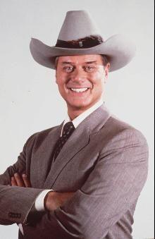 Larry Hagman portrayed the Texas oilman J.R. Ewing starting in 1978.