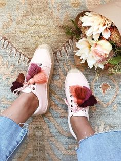 Tassel-Laced Espadrille Sneakers DIY via Honestly WTF