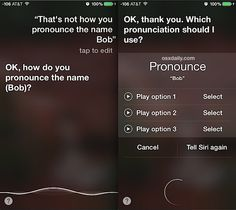 Correct how Siri pronounces a name
