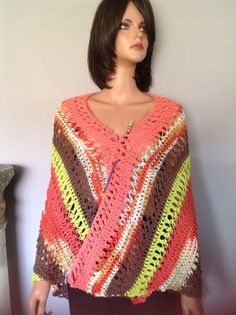Shawl Wrap Hand Knit Cotton Designer Fashion  Hip Summer Bohemian Multicolor      | eBay
