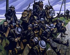 Nevinson, C.R.W. (1889-1946) - 1916 French Troops Resting (Imperial War Museum, London)