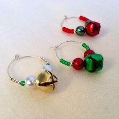 Christmas Wine Charms Jingle Bells Hostess Set of 3 by LuLusGracefulDesigns, $5.25 #lulusgracefuldesigns