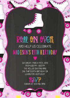 Skate para imprimir cumpleaños fiesta por MaddieKatDesign en Etsy