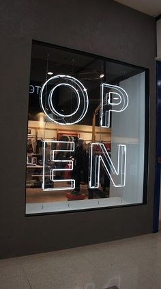 one of the few NEON Open signs I'd agree with Design showcase: new UK menswear chain Open - Retail Design World Layout Design, Be Design, Signage Design, Showcase Design, Display Design, Showcase Store, 3d Signage, Design Ideas, Storefront Signage