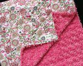 Dinosaur Minky Baby Blanket From Kemaily. $42.95, via Etsy.