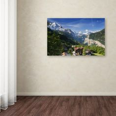 """16 in. x 24 in. """"A New Day in the Swiss Alps"""" by Philippe Sainte-Laudy Printed Canvas Wall Art"""