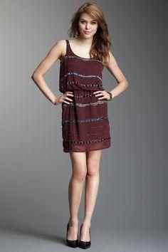 Romeo & Juliet Sequin Trim Sleeveless Dress