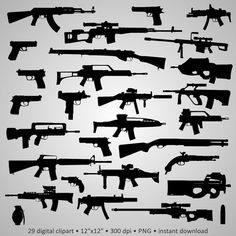 Buy 2 Get 1 Free! Digital Clipart Silhouettes Guns, Weapon SVD Uzi Pistol Glock Beretta i Buy 2 Get 1 Free Digital Clipart Silhouettes Guns Weapon Ambigramm Tattoo, Glock Tattoo, Ak47 Tattoo, Body Art Tattoos, Gun Tattoos, Tattos, Ship Tattoos, Bear Tattoos, Tattoo Pain