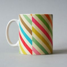 Does your coffee taste better when it's in a cool candy-striped mug? Let's find out!